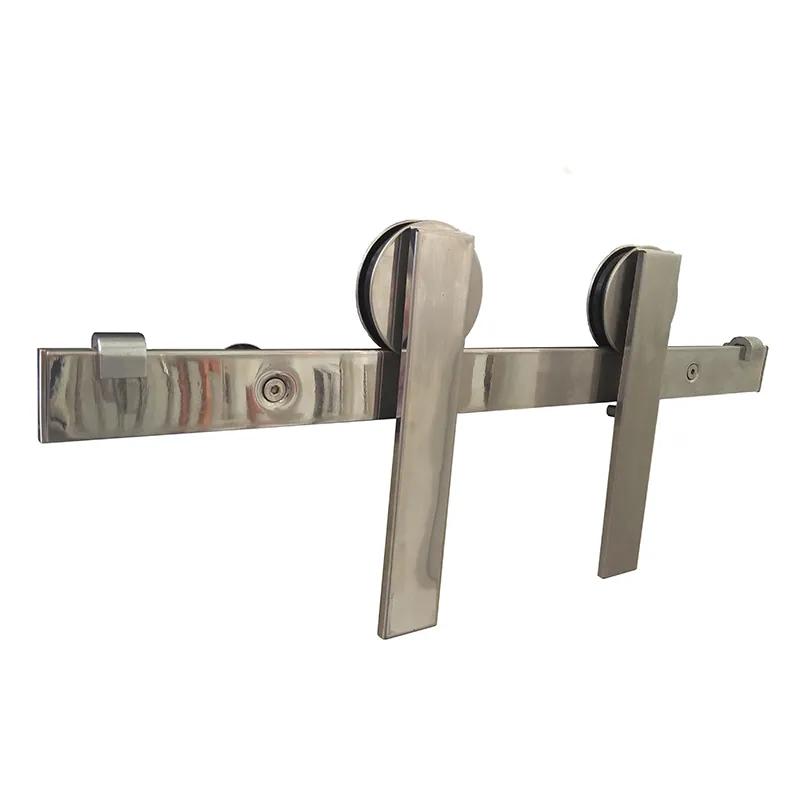Kit Eco para Porta Vidro de Correr 2 metros Aço Inox  (50 Kg) - Geris