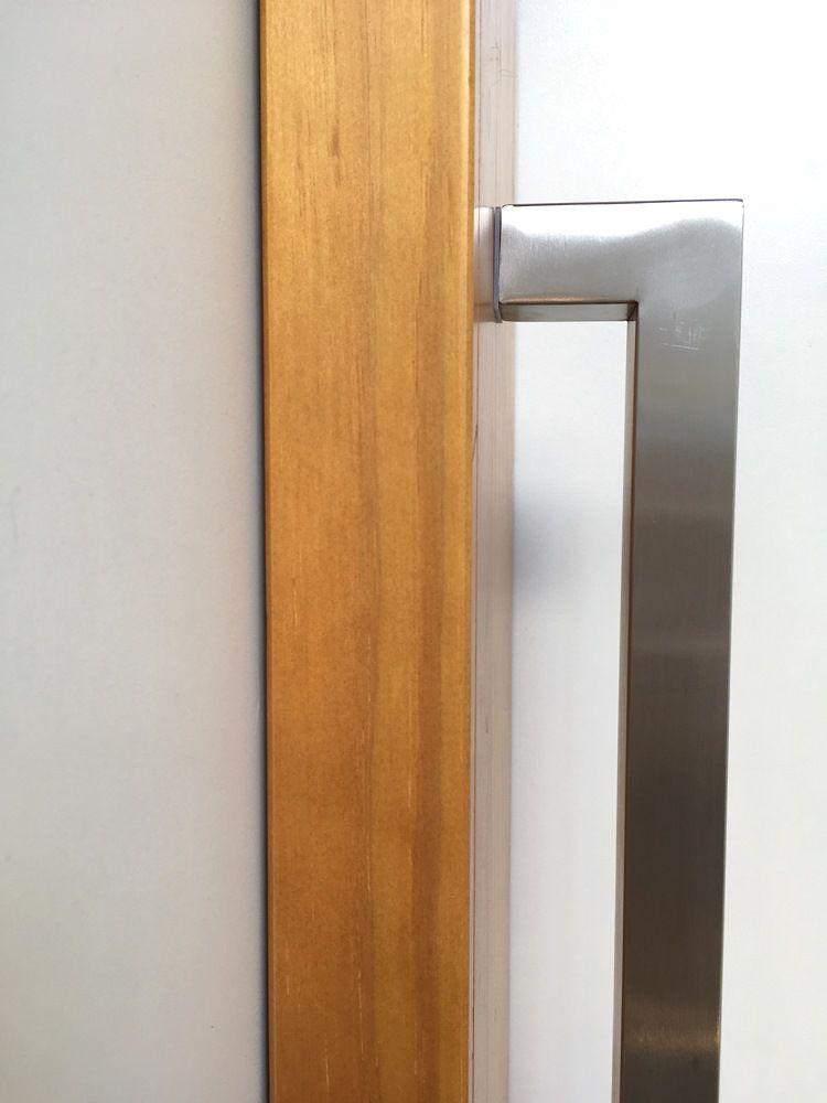 Puxador para portas 3x3cm em Aço Inox 304 Escovado- Diversos Tamanhos