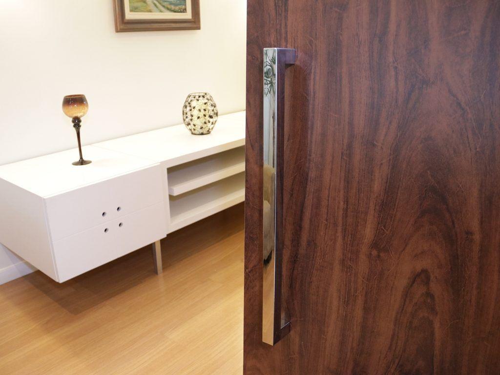 Puxador Duplo para Portas 3x3  |  Aço Inox 304 Polido  |  Diversos Tamanhos