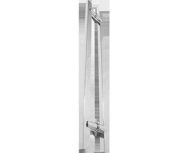Puxador retangular em aço inox