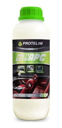 Kit Multilimpador de Alta Performance Protelim APC Multi Ecco Detalhamento Automotivo 1 Litro + Escovas De Rodas