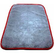 Flanela Microfibra Cinza 600gsm 38x58cm c/ Borda Vermelha - Detailer