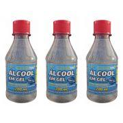 3 Uni Álcool em Gel 70% TFP 200ml
