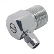 Adaptador Mangueira Filtro 6,5mm com registro e saída de 90*