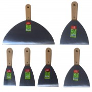 Jogo Espatula de Inox 25cm, 20cm 12,5cm, 10cm, 8cm e 6cm