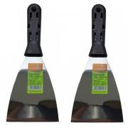 Kit 2 Espátulas 6cm Aço Carbono Cabo Plastico Condor