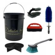 Kit Balde Com Separador De Partículas + Escovas remoção de pelo / limpeza de carpete - Mandala