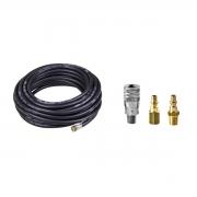 Kit Engate Rápido + Mangueira Compressor 1/4 X 20 Mt
