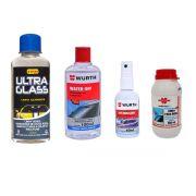 Kit Limpa Vidros Chuva ácida Para Brisa Anti Embaçante e Finalizador
