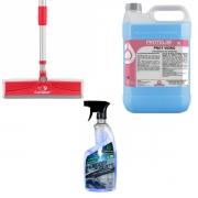 Rodo Limpa Seca + Limpa Vidros Spray 650ml (BRINDE Refil 5l)