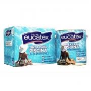 Tinta Impermeabilizante Piscina Azul Kit PU Eucatex 3,6L