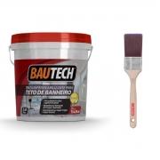 Tinta Impermeabilizante Teto De Banheiro + Pincel Condor 2'