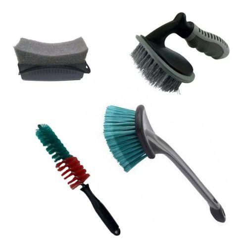 Escovas Caixa, Furo, Pneu E Aplicador De Pretinho