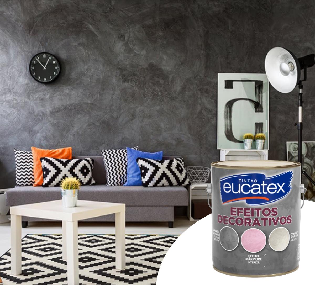 2 Efeito Cimento Queimado Efeitos Decorativos Eucatex 5kg