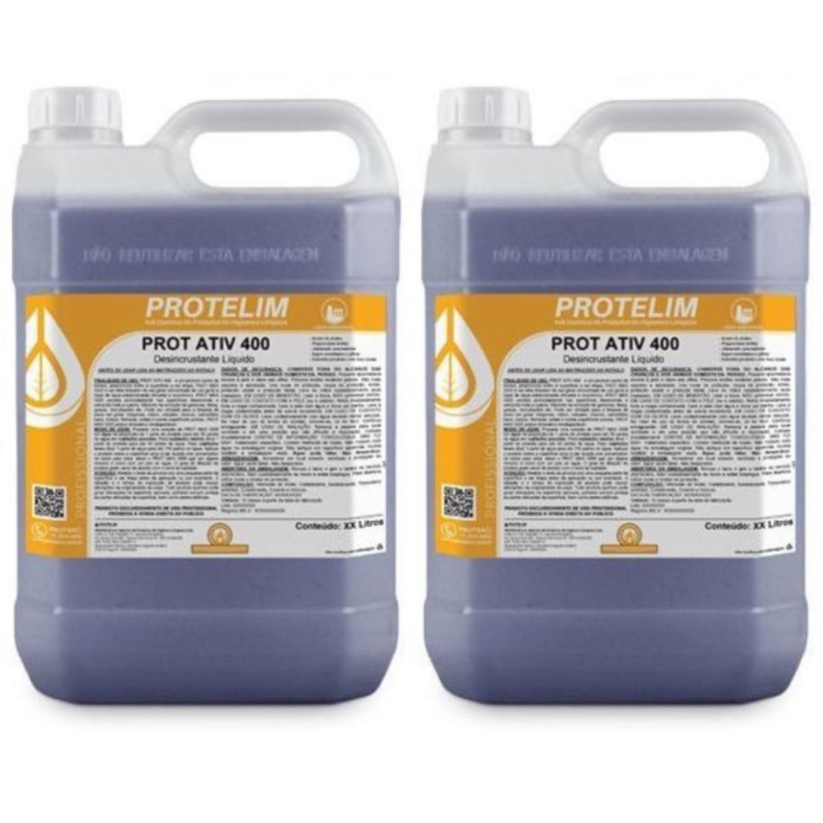 2 Uni Detergente Desincrustante Ácido Baú Prot Ativ 400 5L
