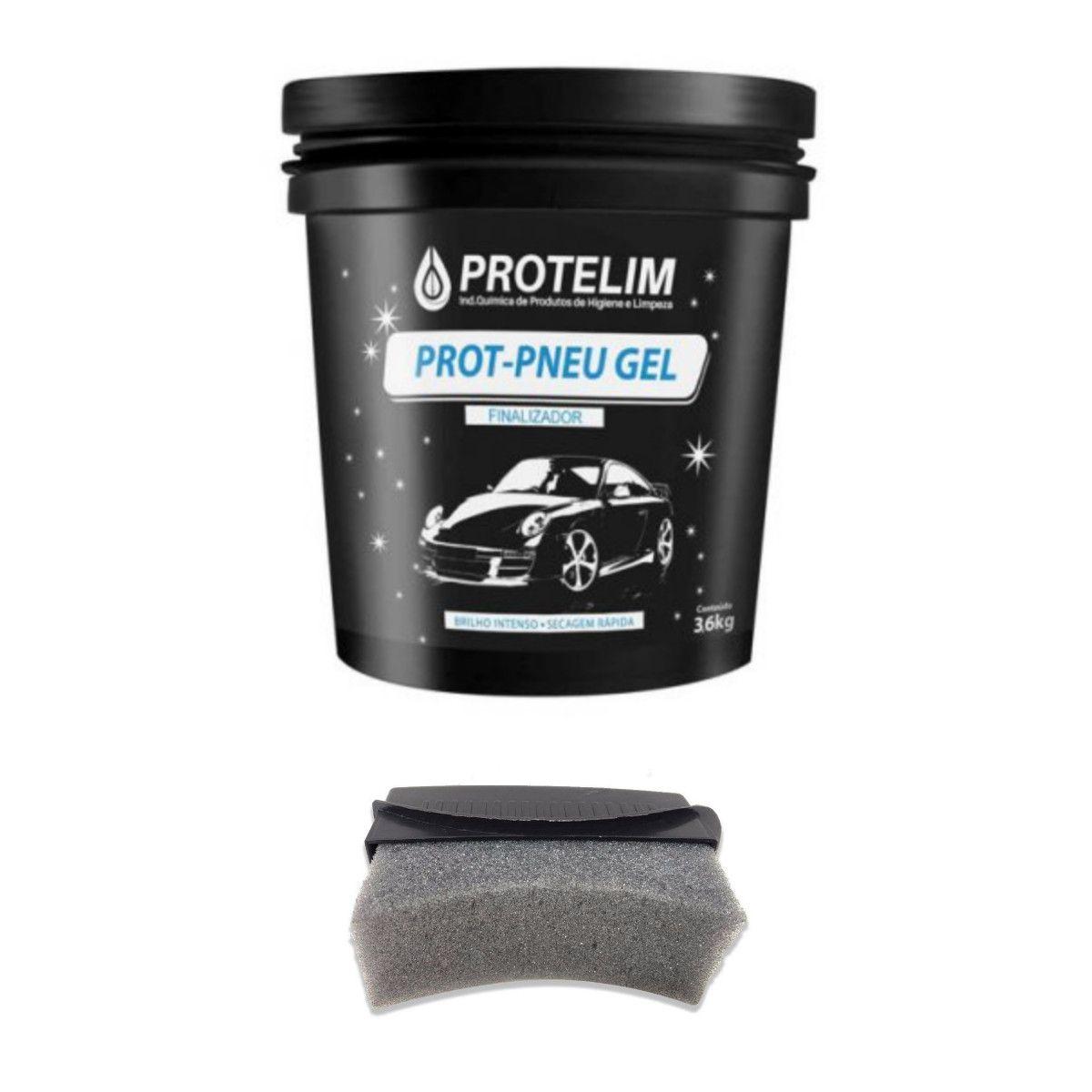 2 Unid Prot Pneu Gel 3,6kg Protelim (BRINDE Espuma Aplicadores)