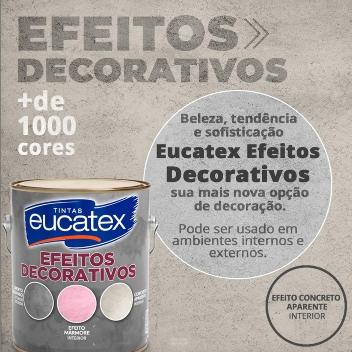 4 Efeito Cimento Queimado Efeitos Decorativos Eucatex 5kg