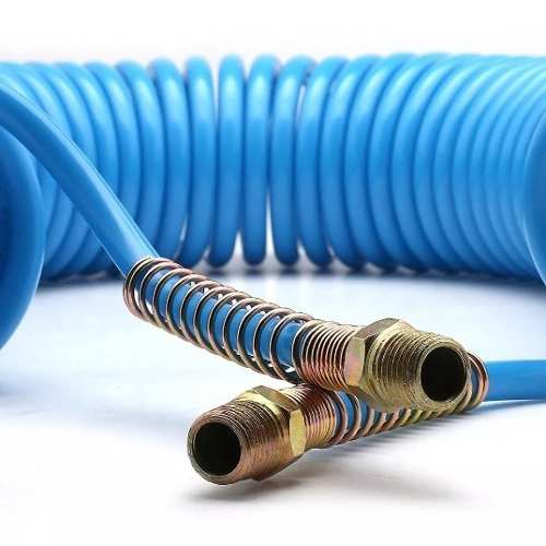 Mangueira Espiral Em Poliamida Azul De 7,7 Metros - 1/4 Pol.