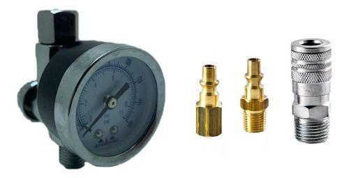 Regulador Válvula Pressão + Engate Rápido