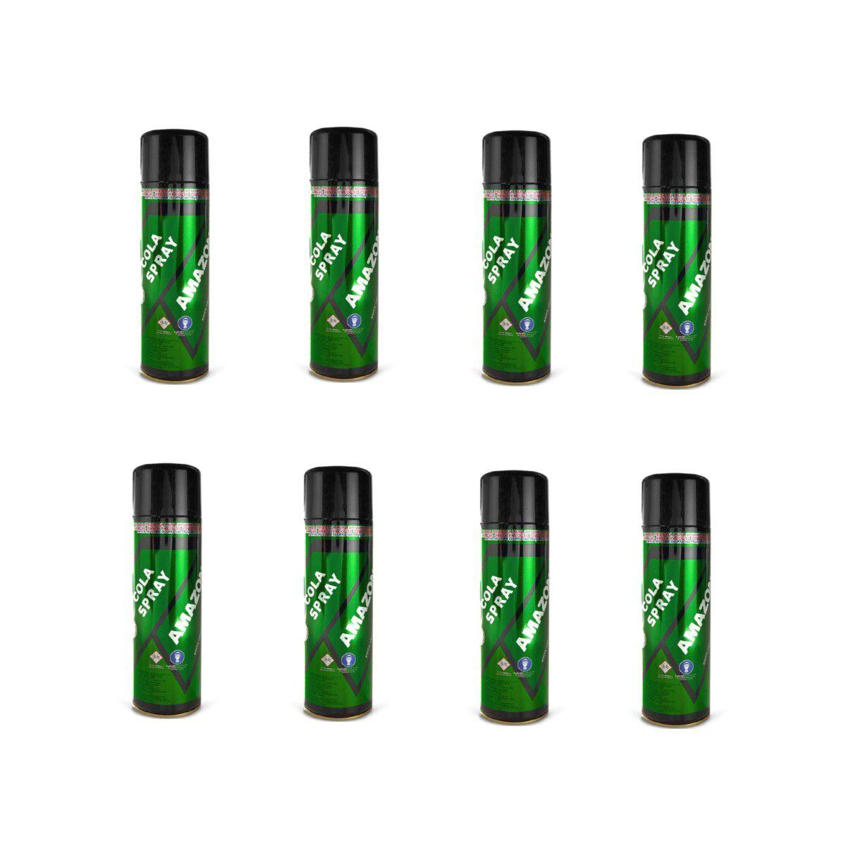 8 Cola De Contato Spray Amazonas 340g Tapeceiro