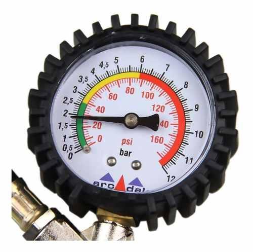 Calibrador De Pneu Analógico Com Manômetro Arcom 160 Libras