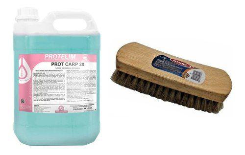 Limpa Carpete + Escova Cerdas Macias
