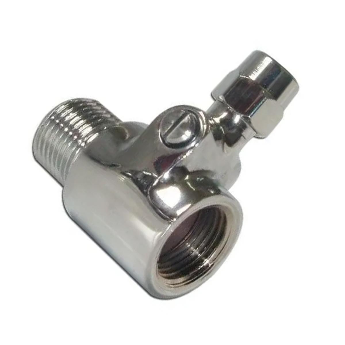 Adaptador Bucha T 1/2x1/2 com registro Mangueira de 9,5mm