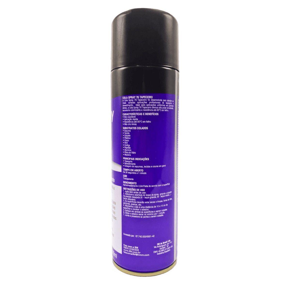 Adesivo Cola Spray 3m 76 Forro Plastico Tapeceiro ( 2 Peças)
