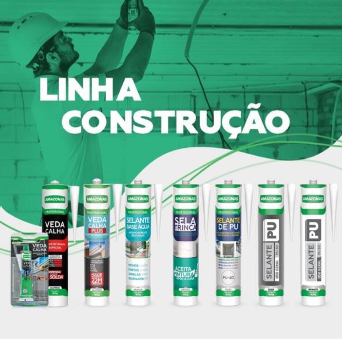 Adesivo Veda Calha Selante Vedação Amazonas 280g Kit 5 Uni