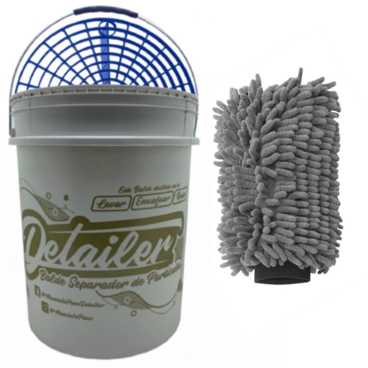 Balde Separador De Partícula + Luva Para Lavagem Automotiva