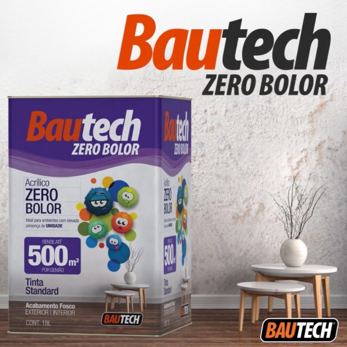 Bautech Tinta Acrílica Zero Bolor 18l Branco