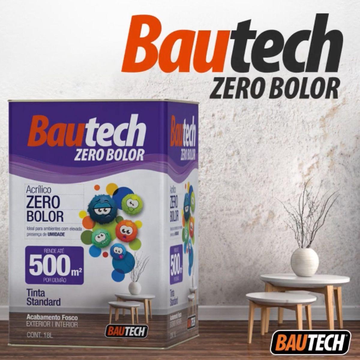 Bautech Tinta Acrílica Zero Bolor 3,6l Branco