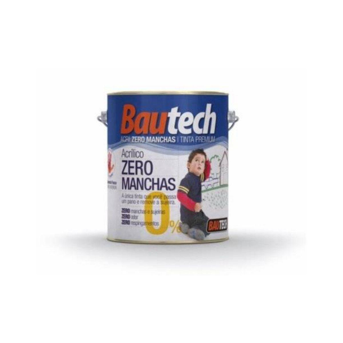 Bautech Tinta Acrílica Zero Manchas 3,6l - Branco