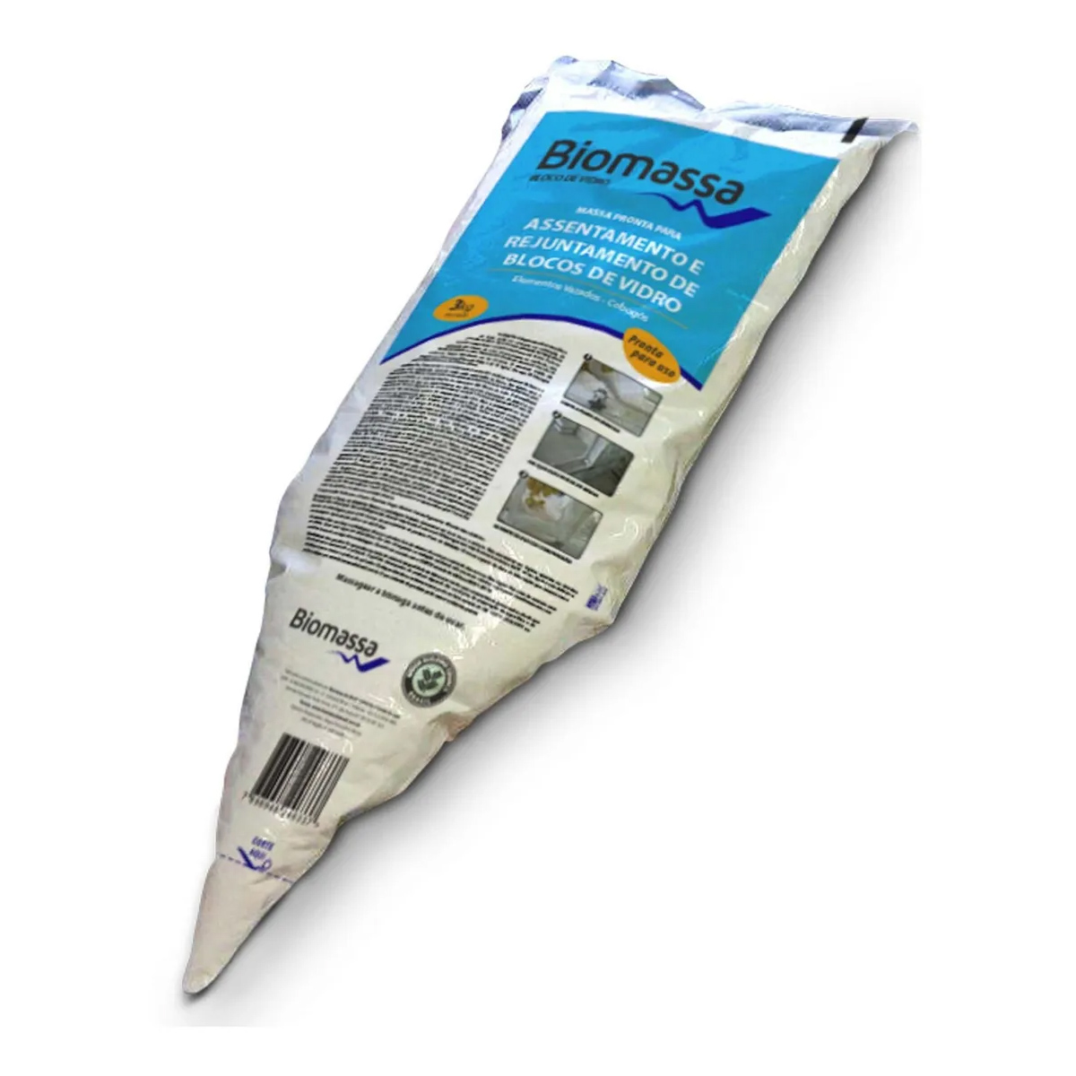 Bloco De Vidro Biomassa (bisnaga 3kg)