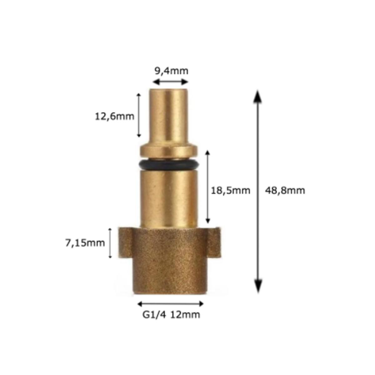 Canhão De Espuma Snow Foam 1L Brinde Conector Wap Rosca 1/4