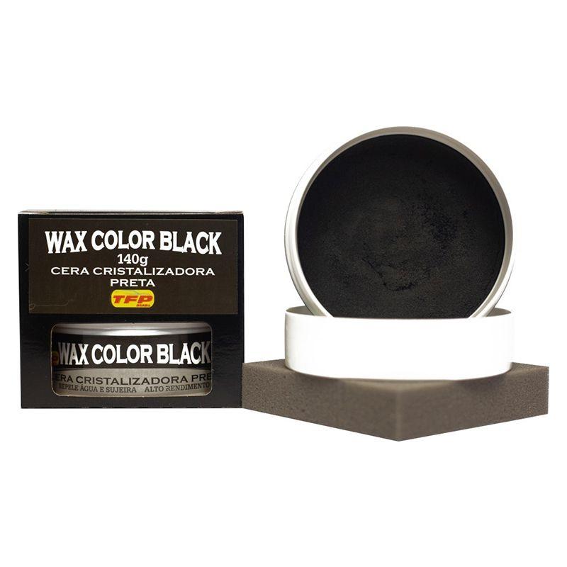 Cera Para Carros Pretos C/ Flanela Wax Color Black