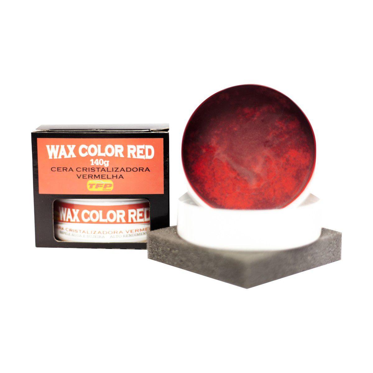 Cera Para Carros Vermelhos C/ Flanela Wax Color Red