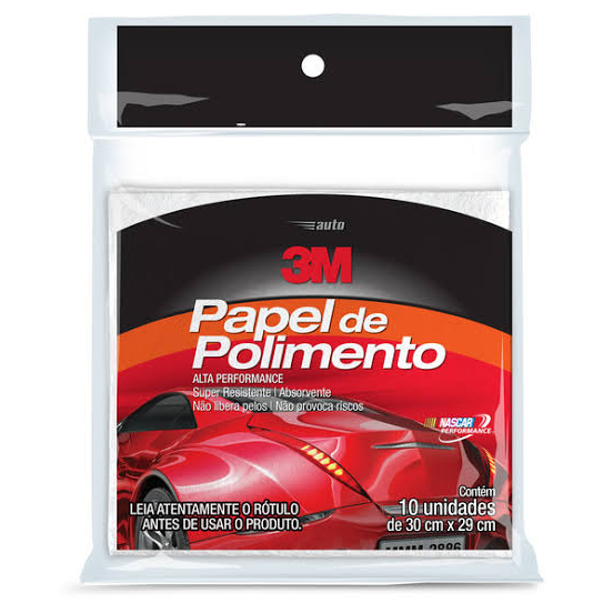 Cera Rapida 3m. Protetora Spray 300 Ml 3m + Papel Polimento