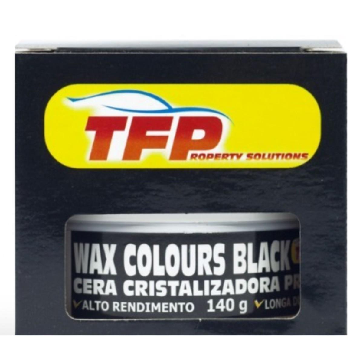 Cera Wax Color Black Cristalizadora 140g Carro Cor Preto + Revitalizador de Plástico