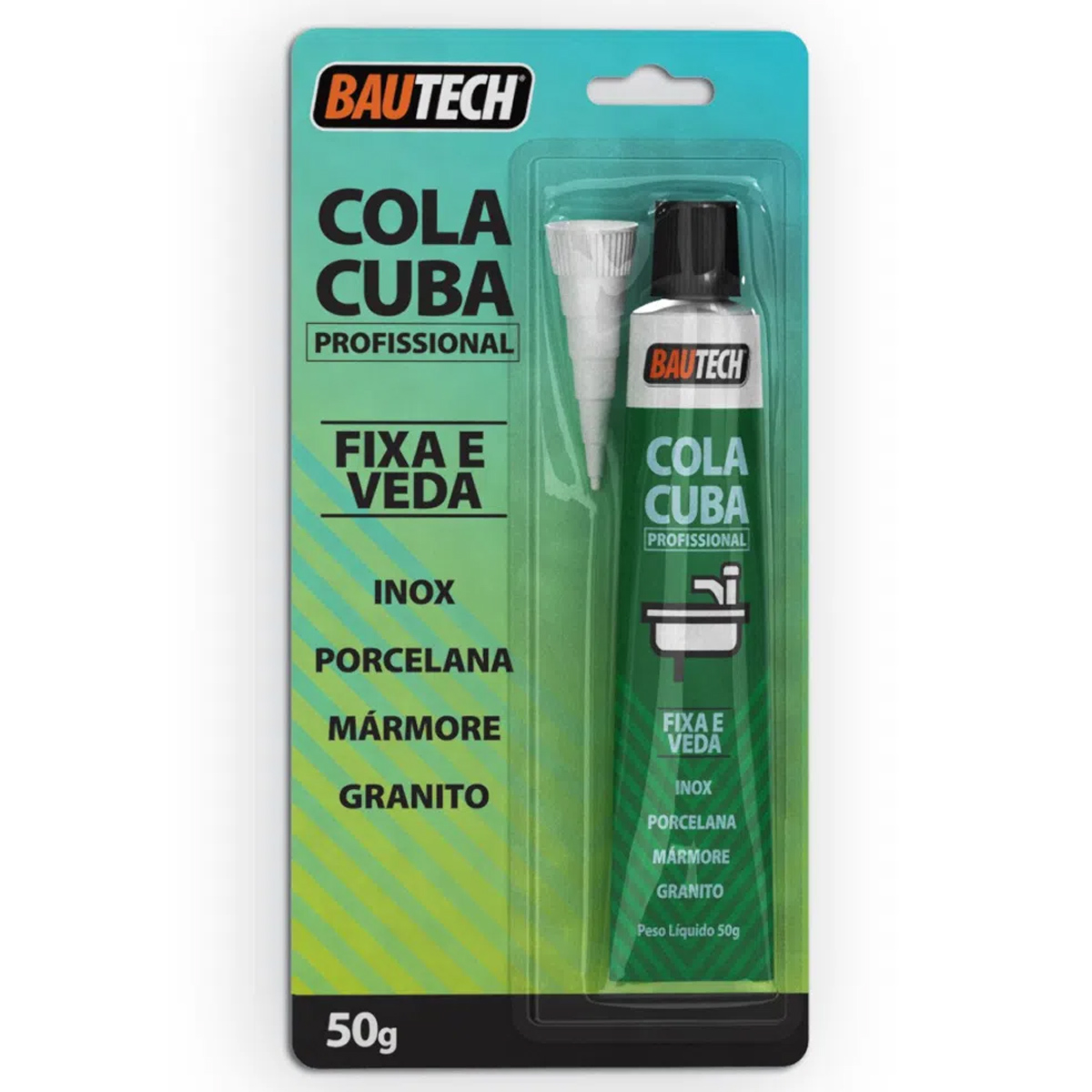 Cola Cuba Fixa e Veda Bautech Bisnaga 50g