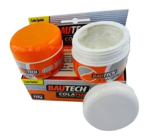 Cola Tudo Bautech - Cola Até Debaixo Dágua 150g Kit 3 Unidad