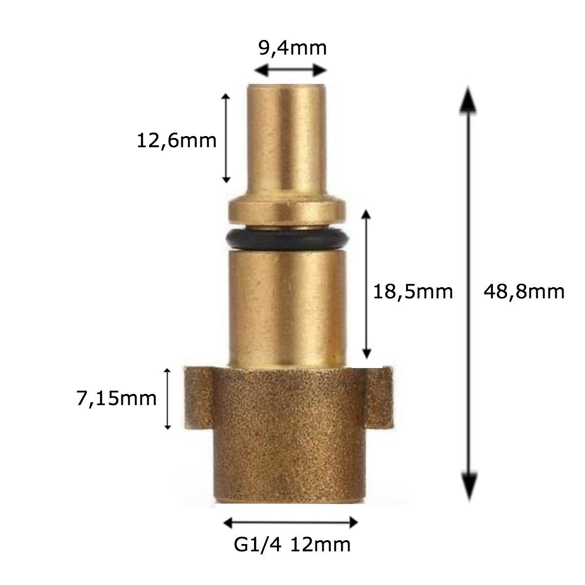 Conector Engate Rápido p/ Snow Foam Wap Mandala Detailer 1/4