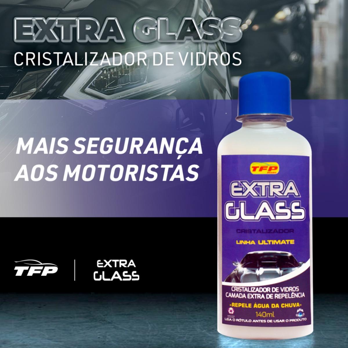 Cristalizador Impermeabilizante Vidros Extra Glass TFP 140ml