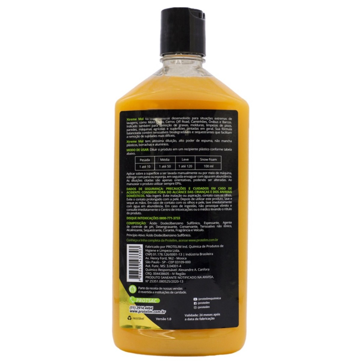 Detergente Desengraxante Carro Xtreme Mol Protelim 500ml