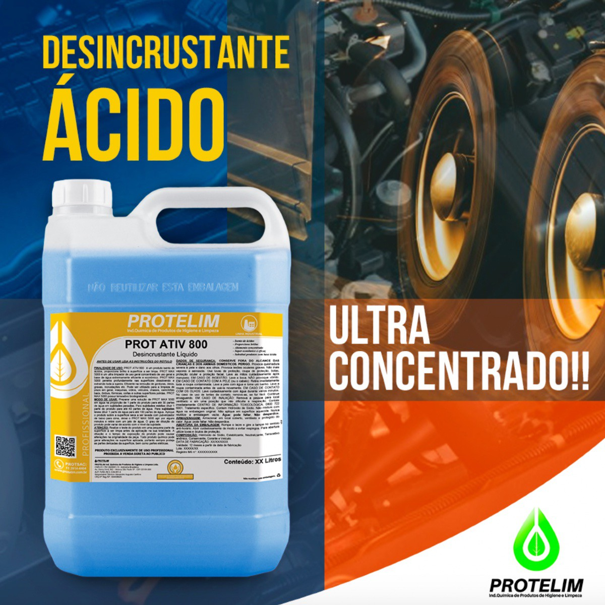 Detergente Desincrustante Limpa Baú Prot Ativ 800 5L