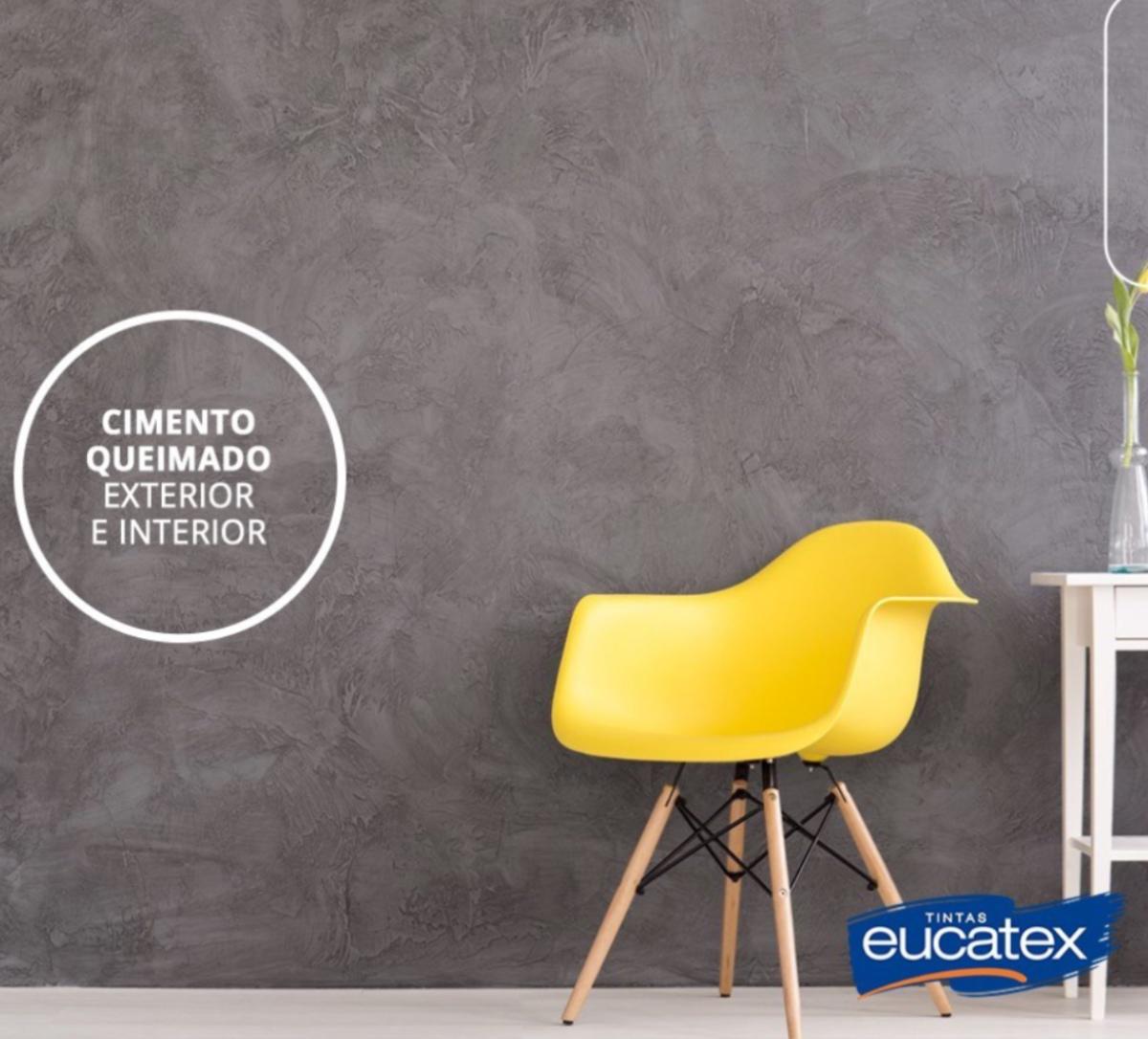 Efeito Cimento Queimado Efeitos Decorativos Eucatex 5kg