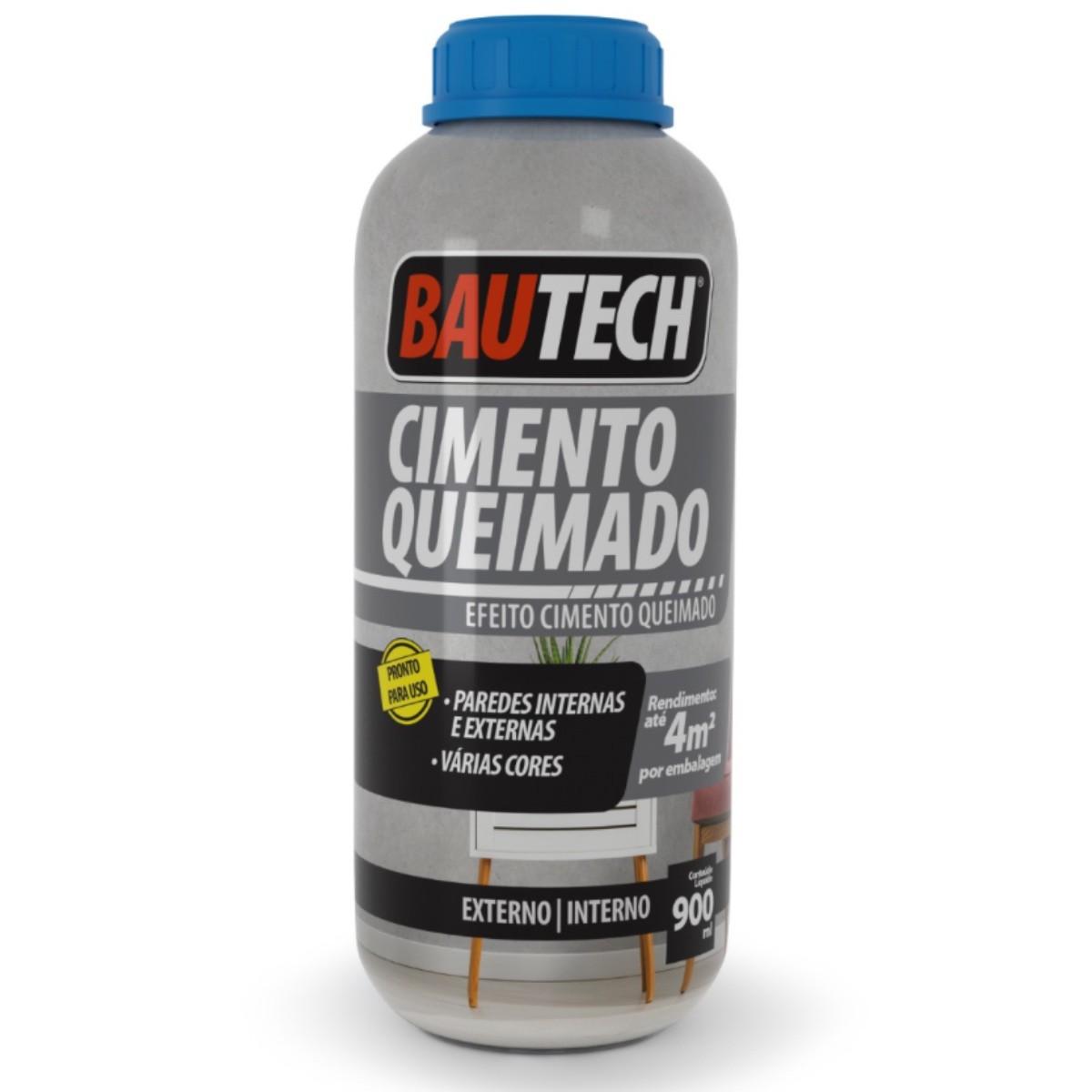 Efeito Cimento Queimado Líquido Bautech 900ml Platina