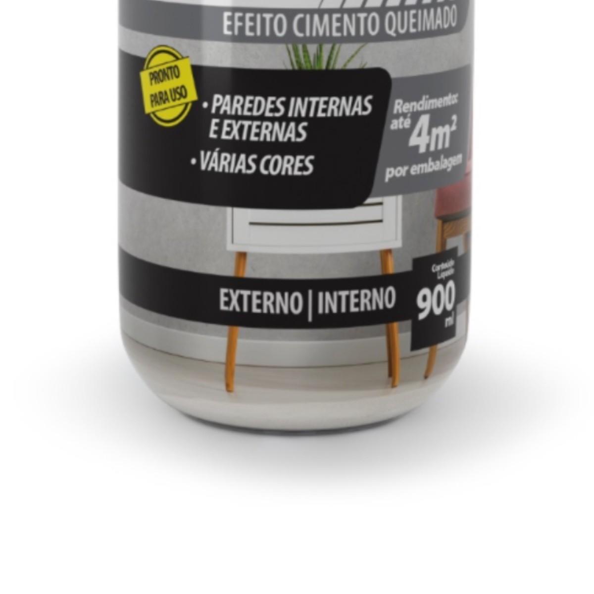 Efeito Cimento Queimado Líquido Bautech 900ml Grafite