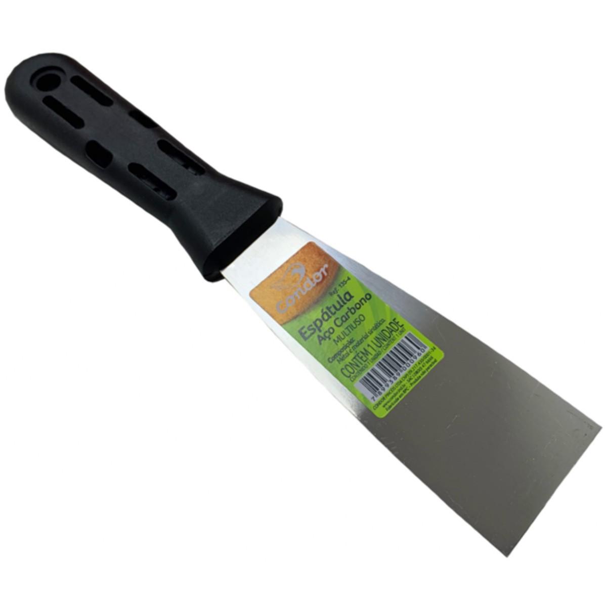 Espátula Rígida 4cm Aço Carbono Cabo Plastico Condor