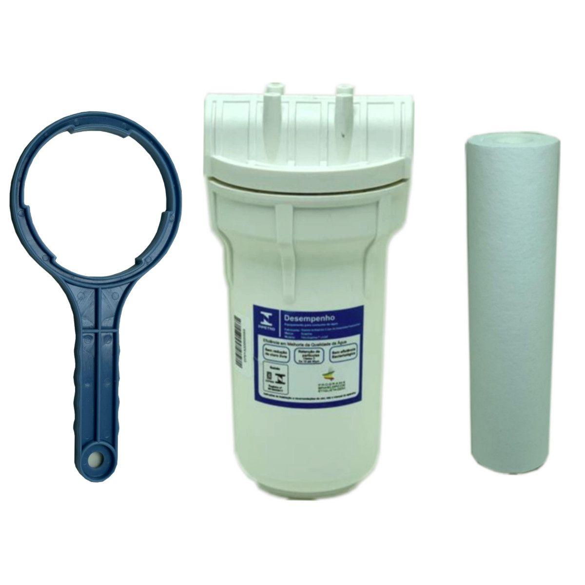 Filtro Água Completo Caixa Dágua Com Cavalete De Entrada 7